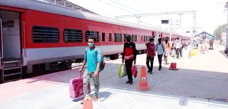 मदुरई से विशेष ट्रेन द्वारा 123 प्रवासी मजदूर रीवा पहुंचें